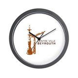 Centre Ville Beyrouth Wall Clock