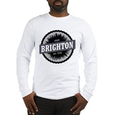 Brighton Ski Resort Utah Black Long Sleeve T-Shirt