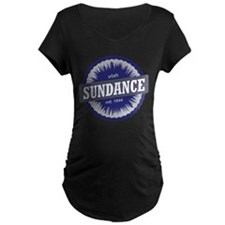 Sundance Ski Resort Utah Blue Maternity T-Shirt
