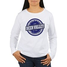 Deer Valley Ski Resort Utah Blue Long Sleeve T-Shi