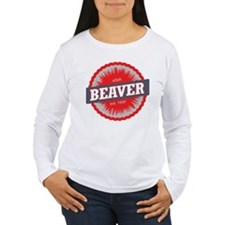 Beaver Mountain Ski Resort Utah Red Long Sleeve T-