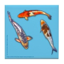 Butterfly koi Tile Coaster