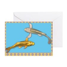 Butterfly koi Greeting Cards (Pk of 10)