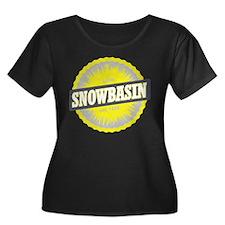 Snowbasin Ski Resort Utah Yellow Plus Size T-Shirt