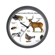 Pennsylvania State Animals Wall Clock
