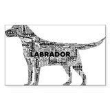 Labrador Typography Art Sticker
