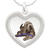 otterhound Silver Heart Necklace
