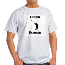 Throw Hammer Ash Grey T-Shirt