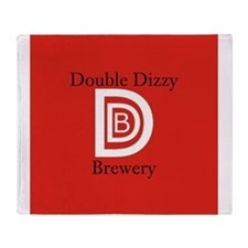 Double Dizzy Brewery Throw Blanket