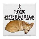 Chihuahua Kiki Tile Coaster
