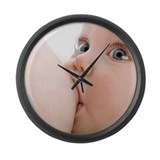 Breastfeeding - Large Wall Clock