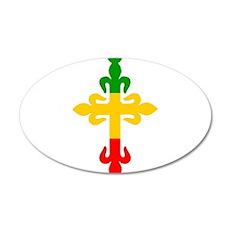 Ethiopian Cross 35x21 Oval Wall Decal
