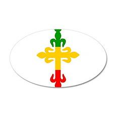 Ethiopian Cross 20x12 Oval Wall Decal