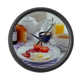 Fried breakfast - Large Wall Clock
