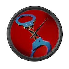 Handcuffs - Large Wall Clock