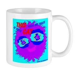 Monster Cat High on Treats Mug