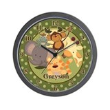 Greyson Jungle Babies Clock Wall Clock