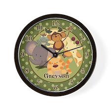 Greyson Jungle Babies Clock Wall Clock