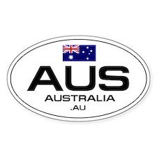 UN-Style Oval Automobile Sticker - Australia