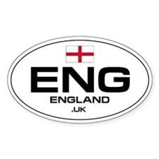 UN-Style Oval Automobile Sticker - England