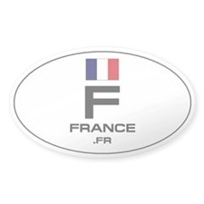 UN-Style Oval Automobile Sticker - France
