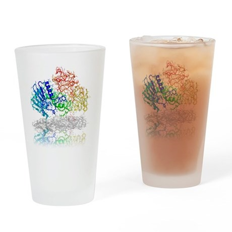 Ricin molecule - Drinking Glass