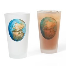 Pangea supercontinent, artwork - Drinking Glass