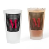 Personalizable White and Black Polka Dot Drinking