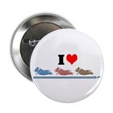 "I Love Running Corgis 2.25"" Button (10 pack)"