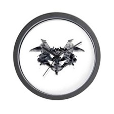 rorschach inkblot test psychology psych Wall Clock