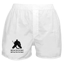 Personalize It, Hockey Goalie Boxer Shorts