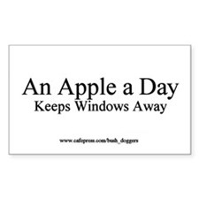 An Apple A Day Keeps Windows Away Bumper Decal