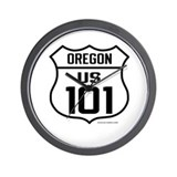 US Route 101 - Oregon Wall Clock