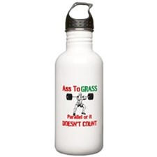 Ass To Grass or it doesnt count Water Bottle
