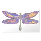 Celestial Fantasy Dragonfly Rectangle Decal