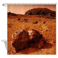 Martian landscape - Shower Curtain