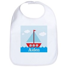 Personalizable Sailboat in the Sea Bib