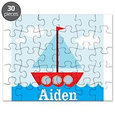 Personalizable Sailboat in the Sea Puzzle