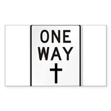 One Way: Jesus Decal