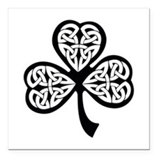 "Celtic Shamrock Square Car Magnet 3"" x 3"""