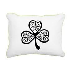 Celtic Shamrock Rectangular Canvas Pillow