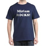 Miriam Rocks! Black T-Shirt
