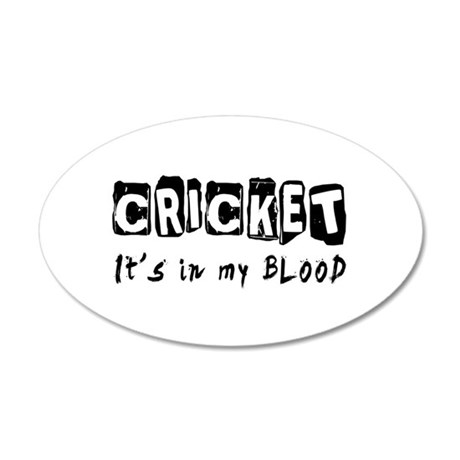 Cricket Designs 20x12 Oval Wall Decal
