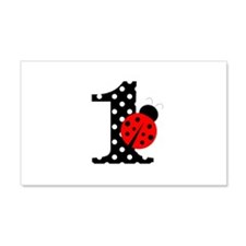 Ladybug First Birthday Wall Decal