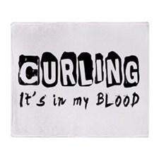 Curling Designs Throw Blanket