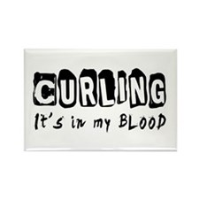 Curling Designs Rectangle Magnet (100 pack)