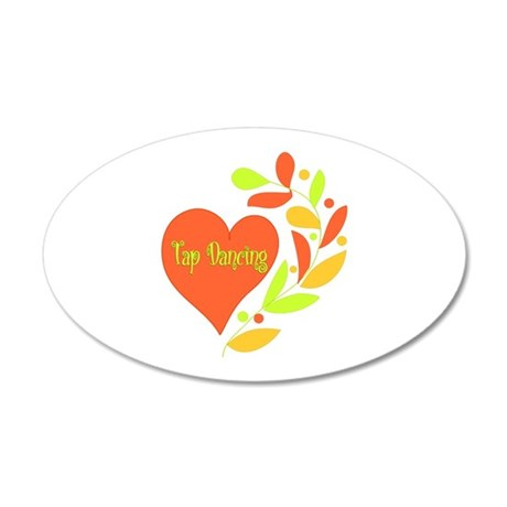 Tap Dancing Heart 35x21 Oval Wall Decal