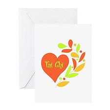 Tai Chi Heart Greeting Card