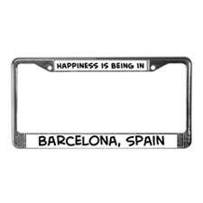 Happiness is Barcelona License Plate Frame