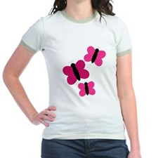 Pretty Pink and Black Butterflies T-Shirt